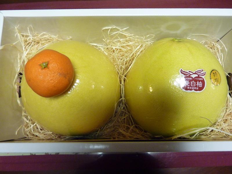 大きな果物到着!